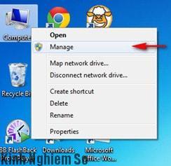 Xem dung lượng ổ cứng máy tính trong Disk Manager