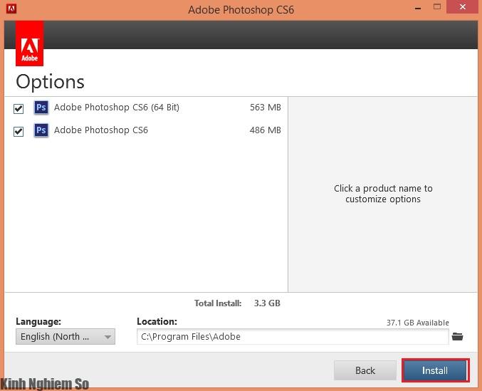 Hướng dẫn cài đặt phần mềm Adobe Photoshop CS6 Full hình 3