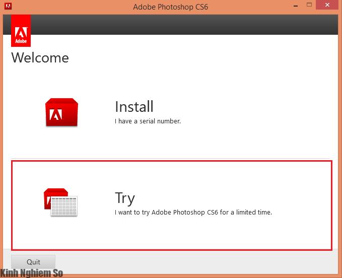 Hướng dẫn cài đặt phần mềm Adobe Photoshop CS6 Full
