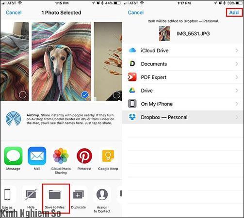 Sao lưu ảnh trên iOS 11