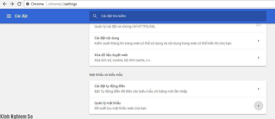 xem mat khau google chorme
