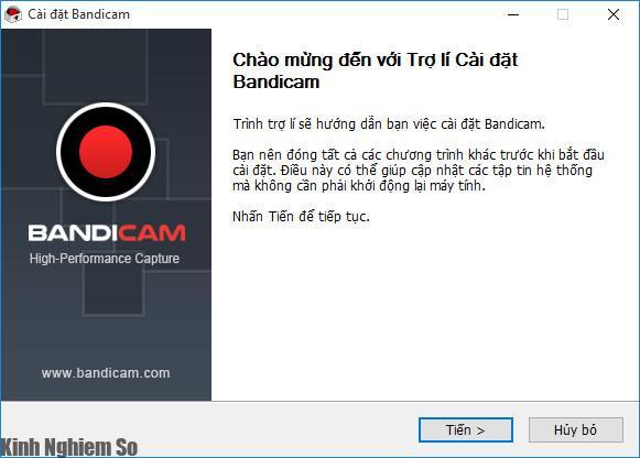 Cài đặt phần mềm Bandicam Full mới nhất