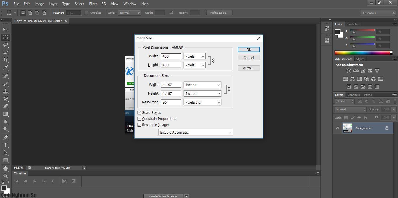 Cách thay đổi kích thước ảnh trong Photoshop nhanh chóng, đơn giản hình 3
