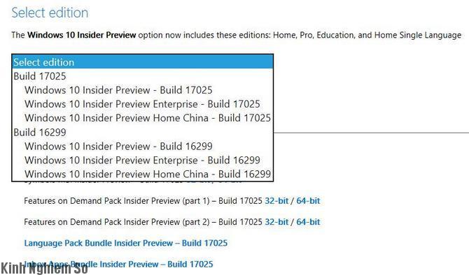 tải Windows 10 Redstone 4