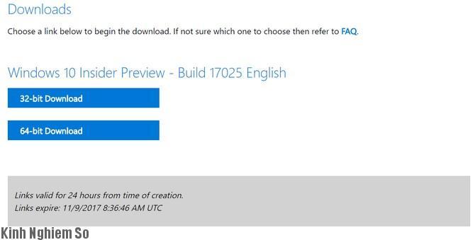 tải iso Windows 10 Redstone 4