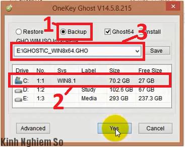 Cài đặt Ghost Windows