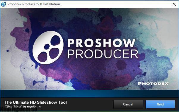 Cài đặt ProShow Producer 9
