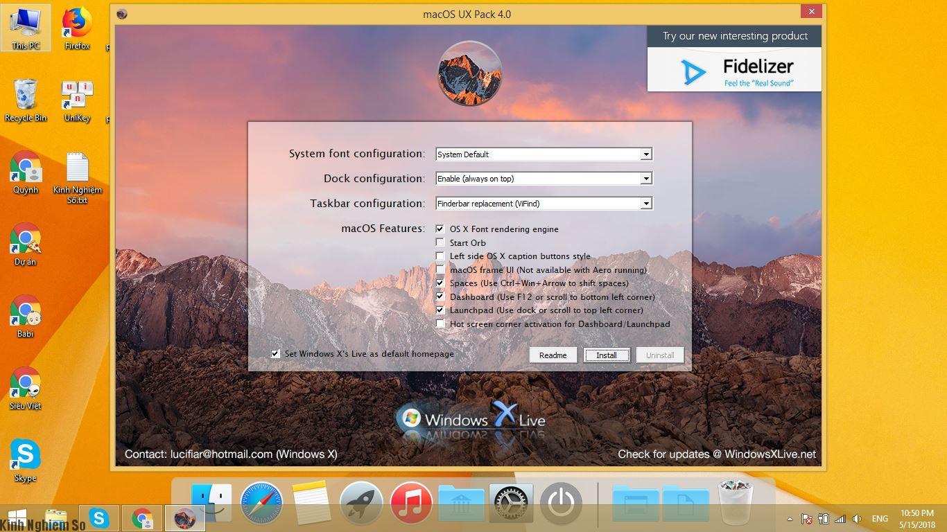 Cài giao diện Mac OS cho Windows 10 tuyệt đẹp hình 1