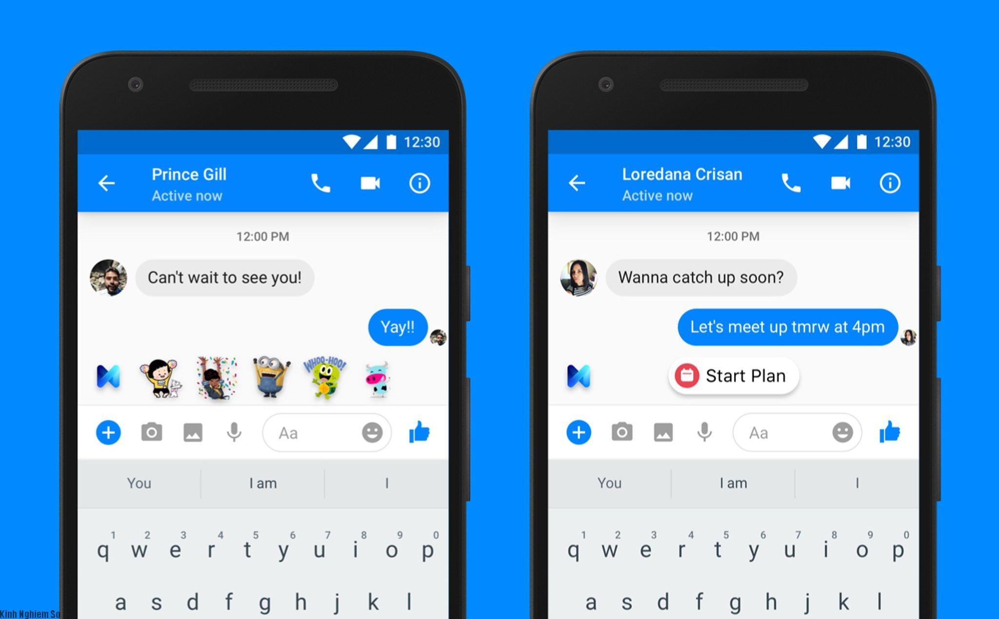 Facebook cập nhật chức năng M, tự động gợi ý gửi icon và các lời nhắn
