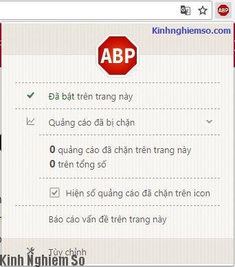 Chặn quảng cáo Adblock Plus tiện ích trên trình duyệt Chrome hình 1