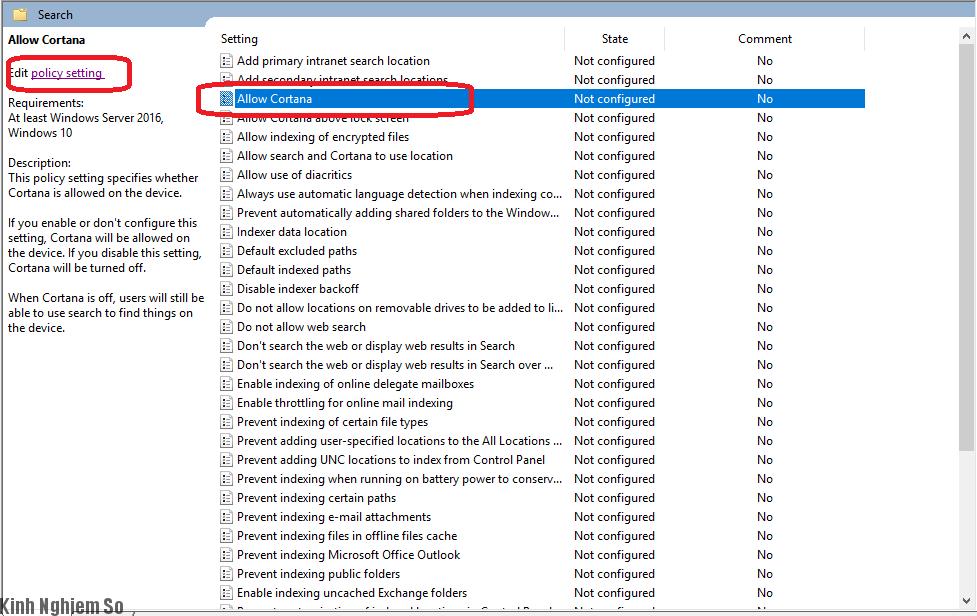 Thủ thuật tắt Cortana Windows vĩnh viễn cực đơn giản hình 5