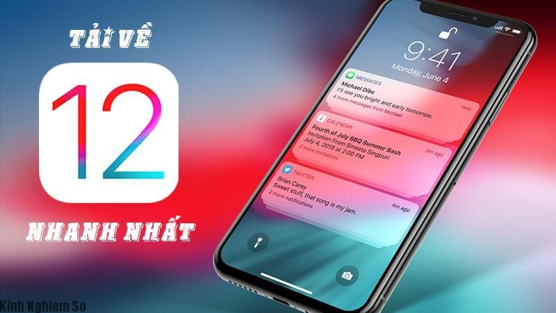 Mẹo hướng dẫn cách tải và cài đặt iOS 12 nhanh hơn server Apple