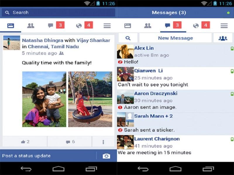 Facebook lite sở hữu giao diện, tính năng không quá khác so với phiên bản trước đó