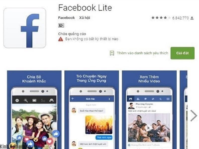 Tải ứng dụng facebook lite giúp máy hoạt động ổn đinh, mượt hơn