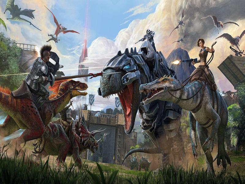 tải ark survival evolved tham gia trận đấu sinh tồn với những chú khủng long
