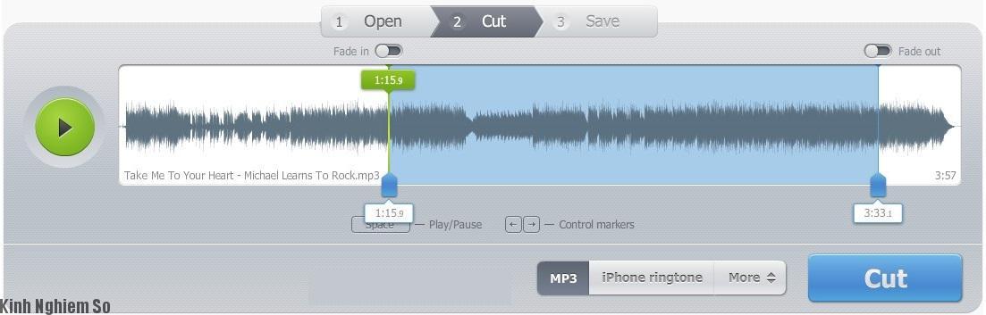 Cách cắt nhạc từ mp3cut