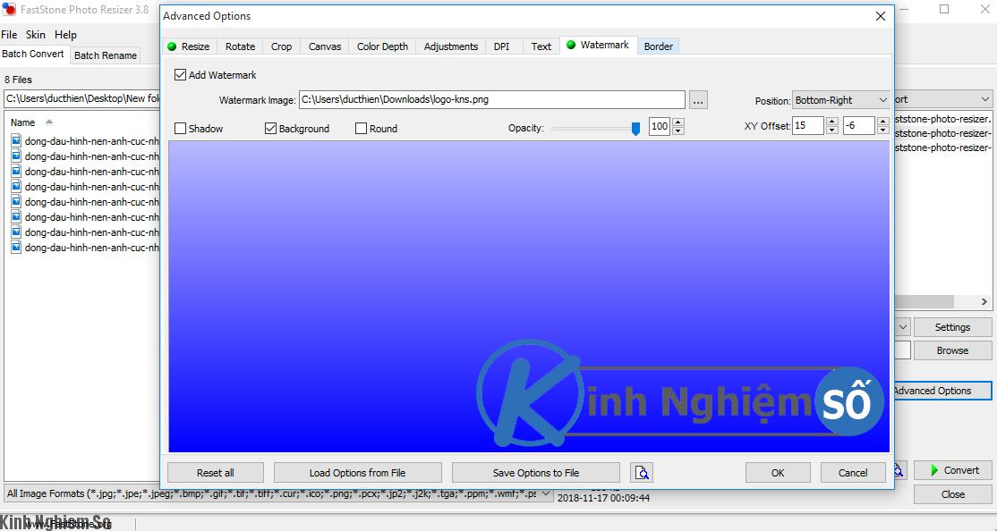 Đóng dấu hình và kích thước ảnh bằng phần mềm Faststone Photo Resizer ảnh 6