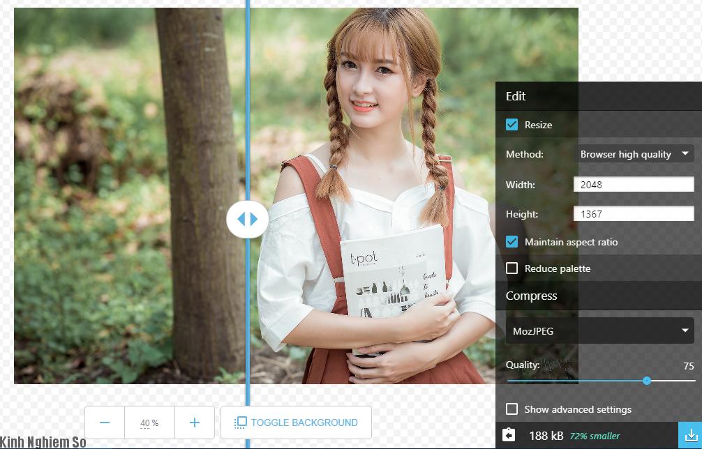 Hướng dẫn cách nén ảnh online công cụ mới của Google cực kì đơn giản ảnh 5