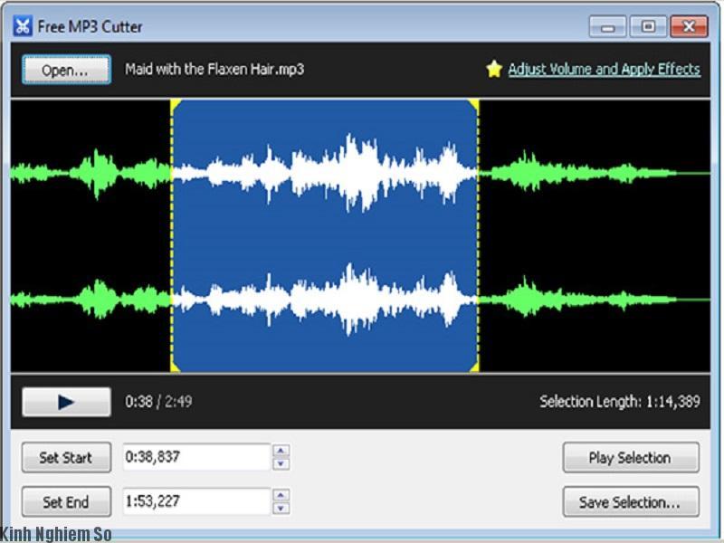 Phần mềm online MP3 cuter cắt nhạc chuyên nghiệp