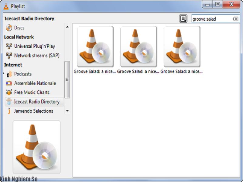 Phần mềm vlc media player giúp phát radio