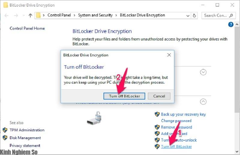 Hướng dẫn sử dụng BitLocker