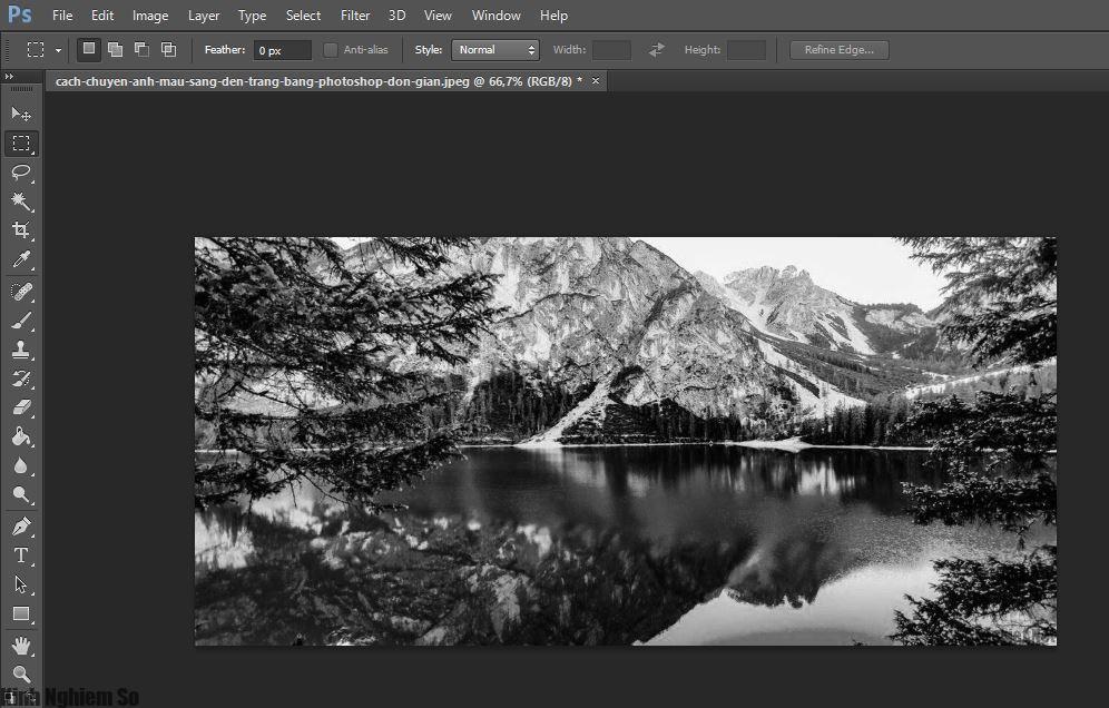 Cách chuyển ảnh màu sang đen trắng bằng Photoshop đơn giản