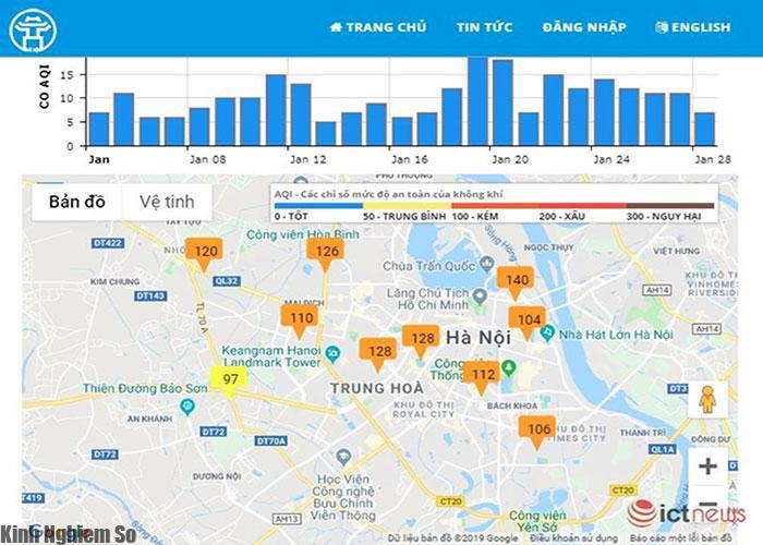 Hướng dẫn cách xem độ ô nhiễm không khí trên Smartphone ngày tết