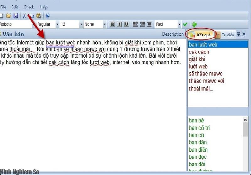 kiểm tra lỗi chính tả