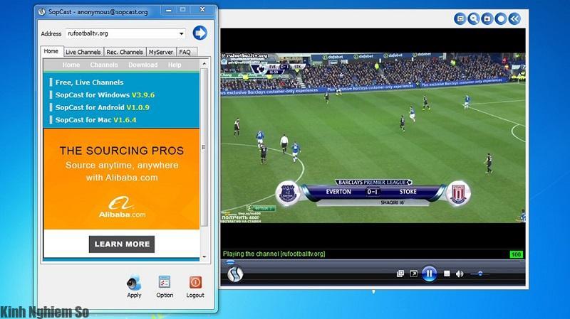 Cách xem bóng đá trên Sopcast trực tiếp chất lượng cao