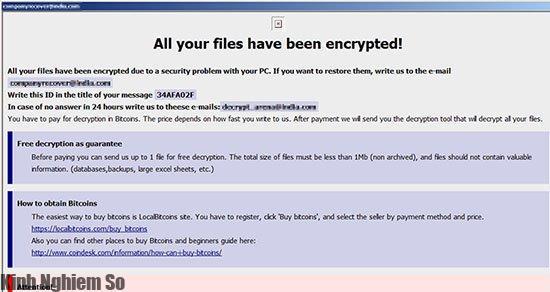 Cảnh báo hàng trăm tổ chức bị dính mã độc tống tiền W32.WeakPass tại Việt Nam