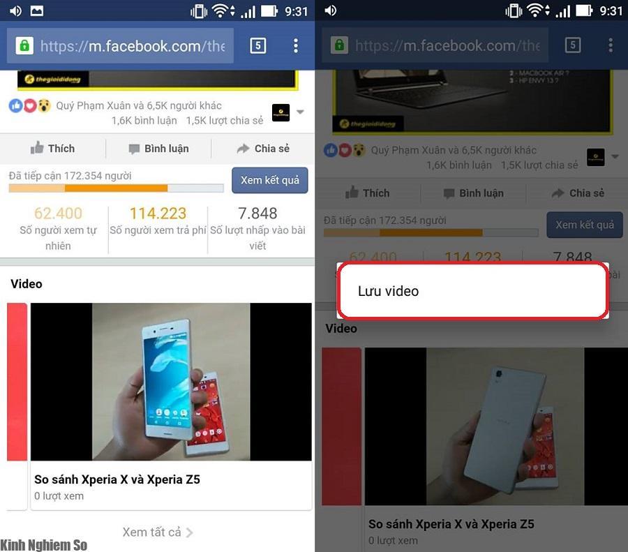 """Mẹo cách tải video Facebook """"cực nhanh"""" cực kì đơn giản ảnh 1"""