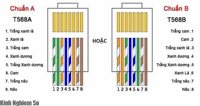 Cách bấm dây mạng chuẩn A và chuẩn B chuẩn xác nhất qua 3 bước hình 2