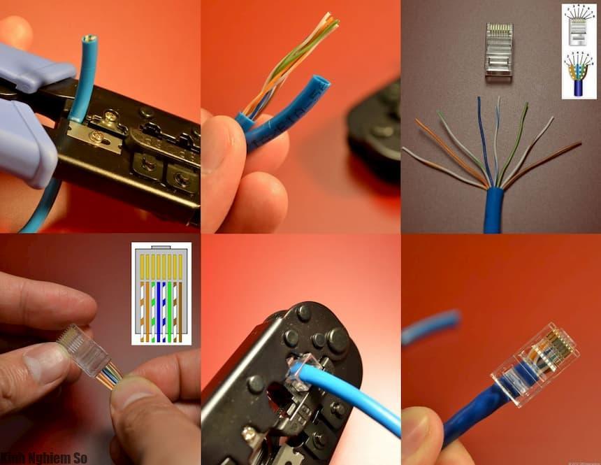 Cách bấm dây mạng chuẩn A và chuẩn B chuẩn xác nhất qua 3 bước
