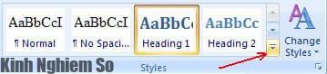 Tạo mục lục trong Word 2010