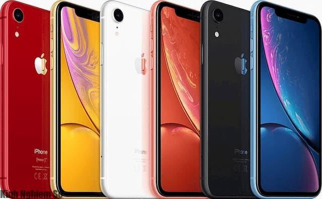 6 màu hiện tại của iPhone XR.