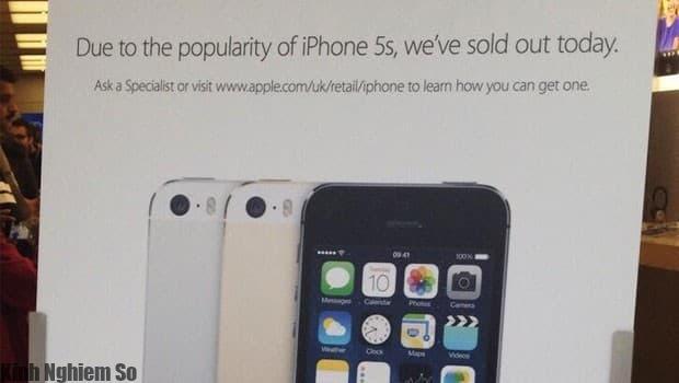 những mẫu iPhone 5s được thông báo cháy hàng