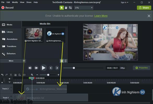 Cách chèn Logo vào Video bằng Camtasia Studio hình 5
