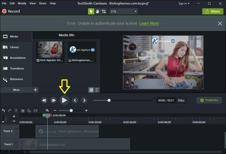 Cách chèn Logo vào Video bằng Camtasia Studio hình 6