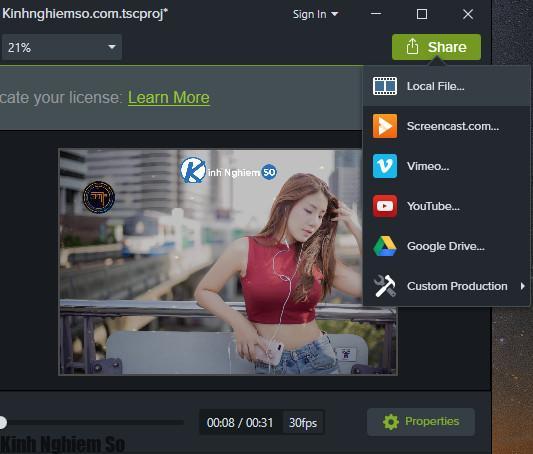 Cách chèn Logo vào Video bằng Camtasia Studio hình 7