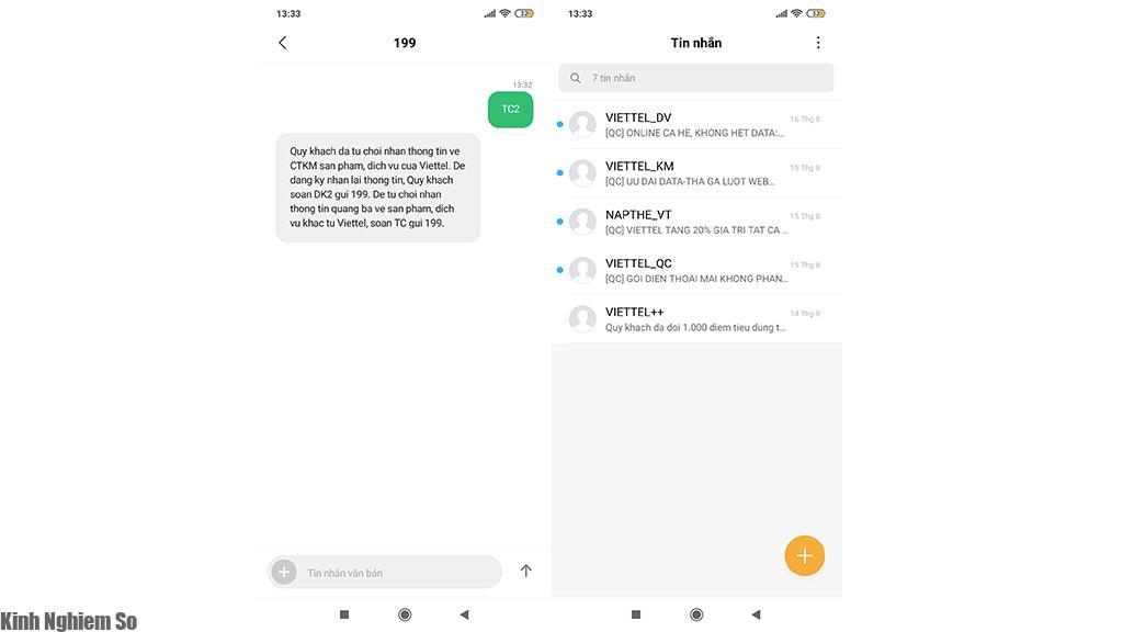 Cách từ chối tin nhắn quảng cáo Viettel