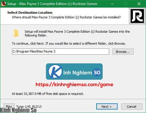 Cài đặt game Max Payne 3