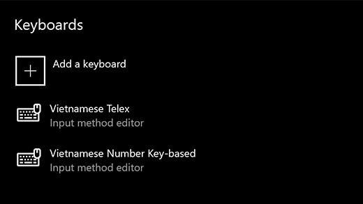 Thêm bộ gõ Tiếng Việt không cần phần mềm vào Windows 10