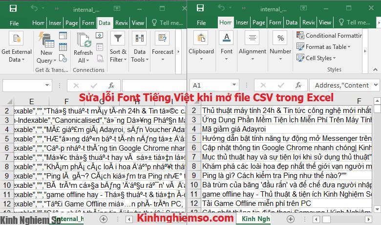 Sửa lỗi font Tiếng Việt khi mở file CSV