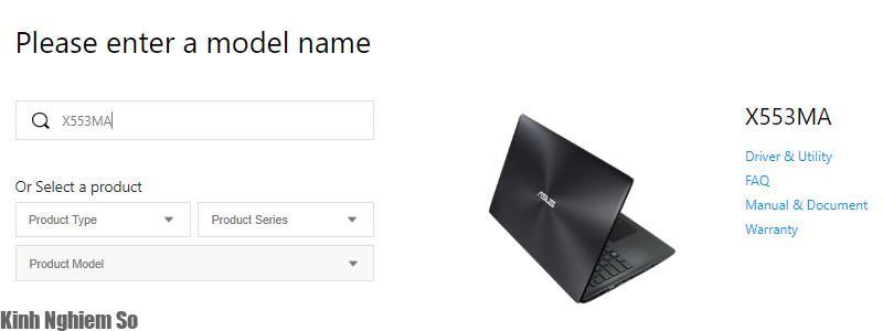 Tải Driver cho Laptop Asus