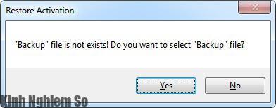 Chọn bản sao lưu bản quyền Windows, Office