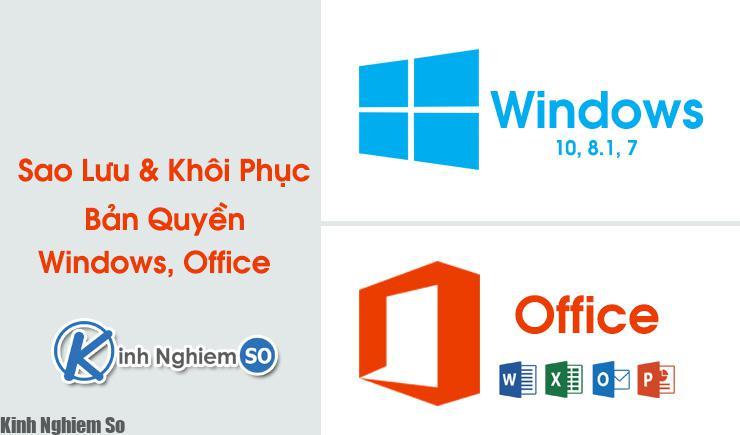 Cách sao lưu bản quyền Windows