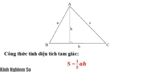 Công thức tính diện tích tam giác thường
