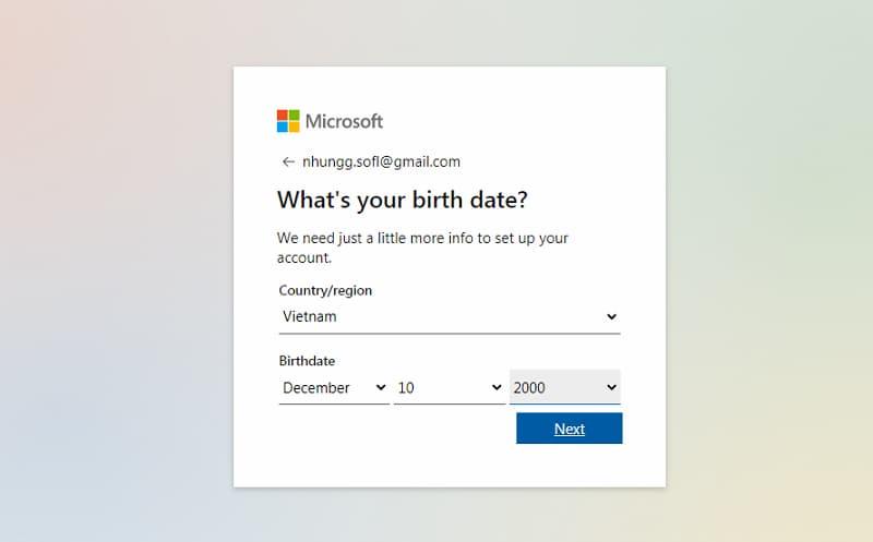 Hướng dẫn tạo tài khoản Microsoft nhanh nhất ảnh 2