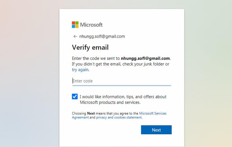 Hướng dẫn tạo tài khoản Microsoft nhanh nhất ảnh 3