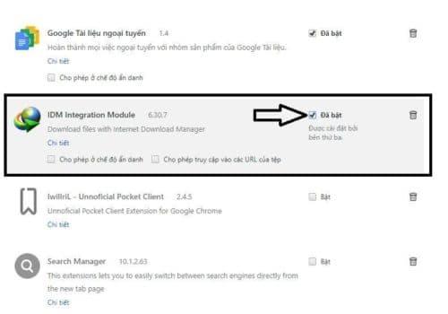 Cách thêm extension IDM vào Chrome